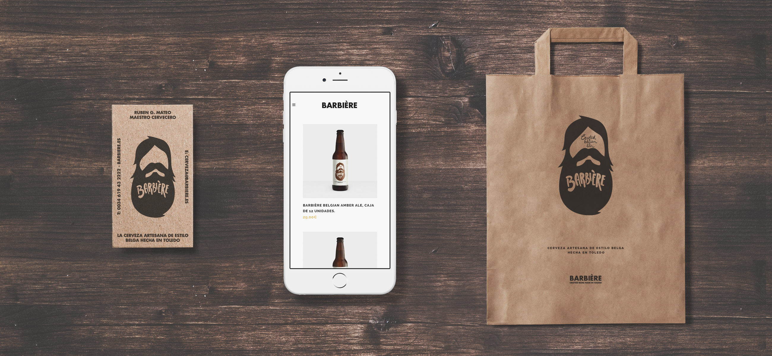 Barbiére Beer, proyecto de branding y packaging por The Woork Co