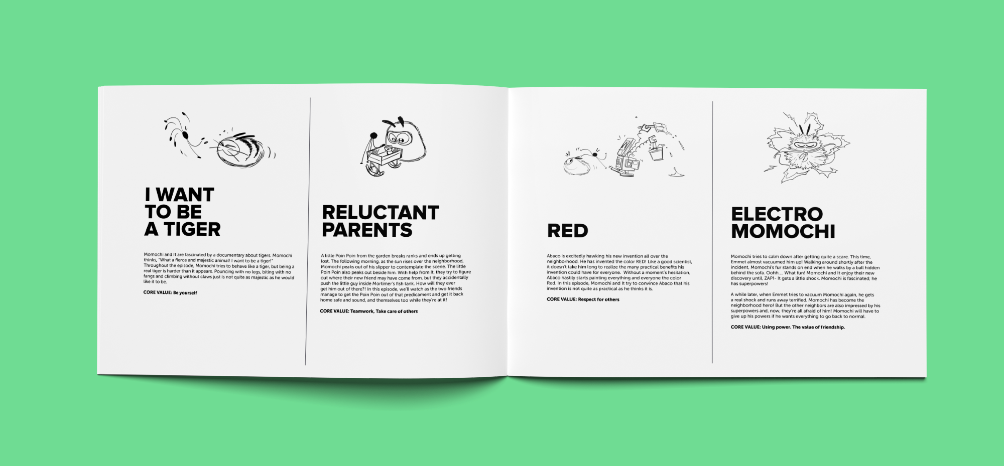 Momochi, Proyecto de Identidad, Ilustración & Editorial por The Woork Co