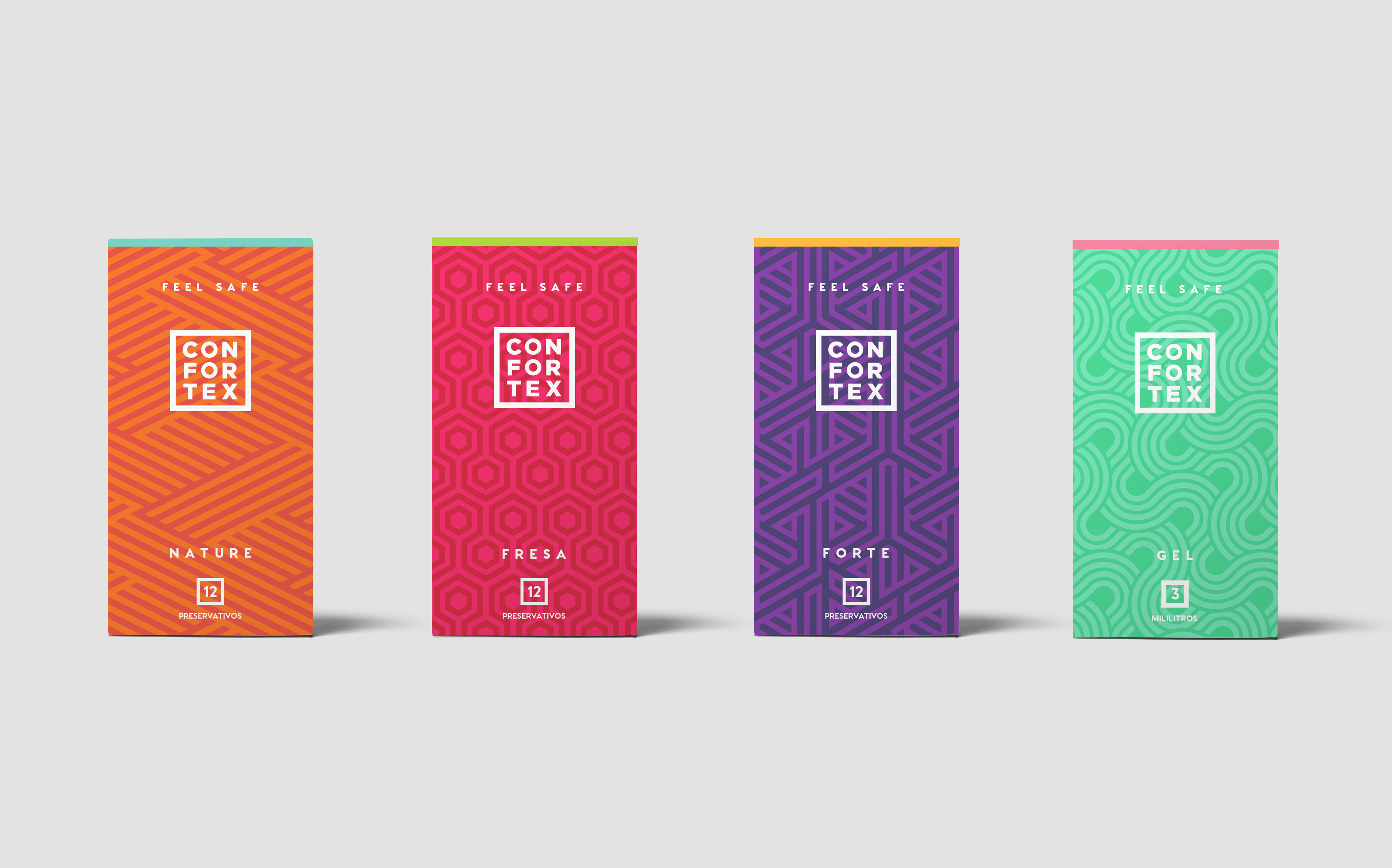 Confortex, proyecto de Branding & Packaging por The Woork Co