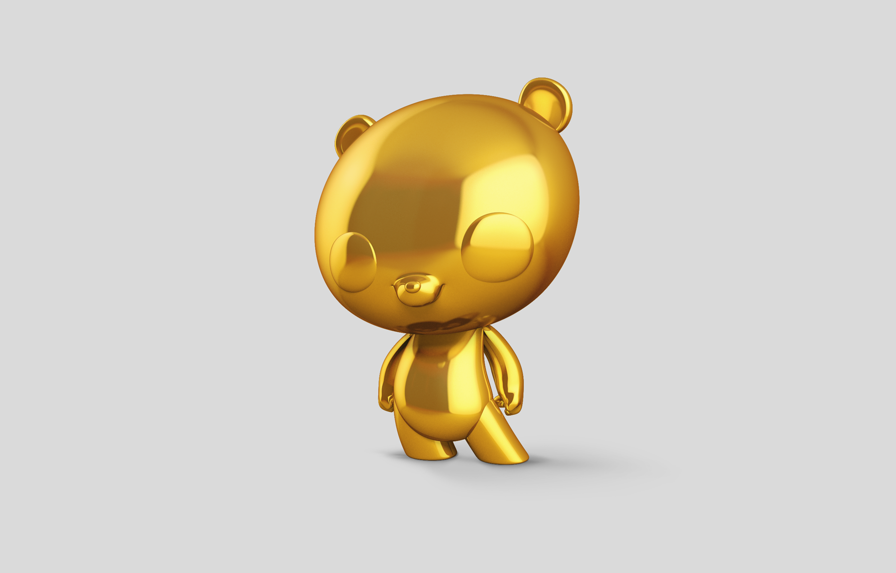 Bamboo Vinyl Toy Proyecto para Panda Security por The Woork Co