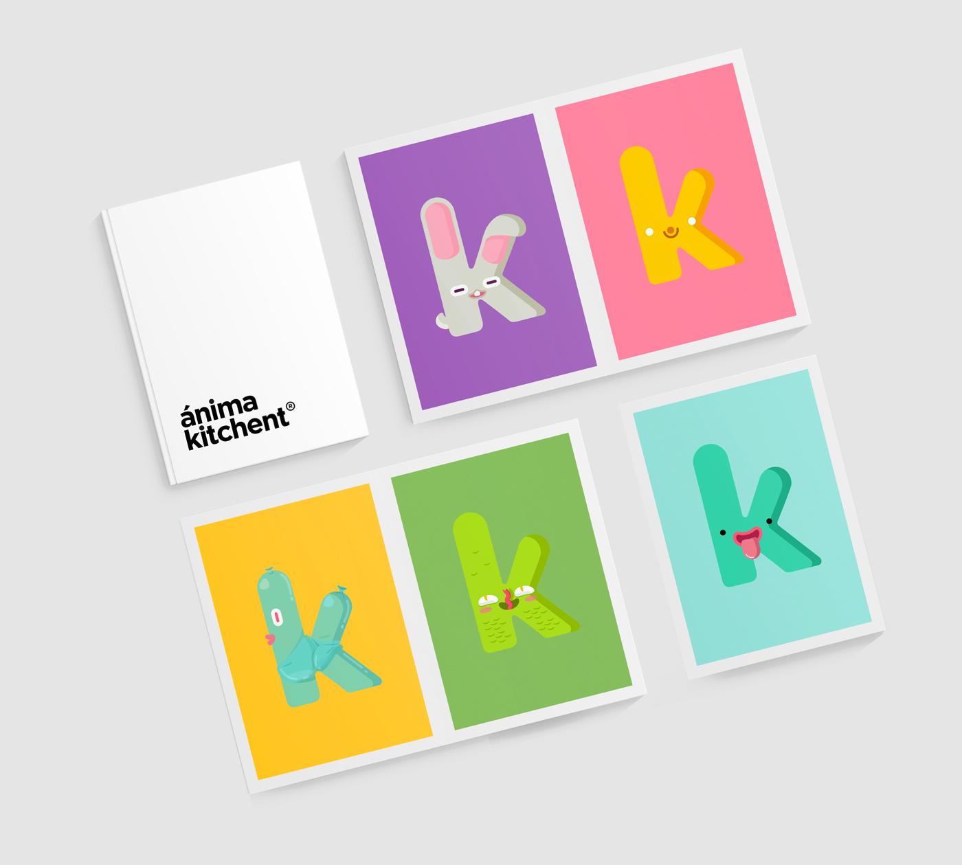 Ánima Kitchent, proyecto de Branding e Ilustración por The Woork Co