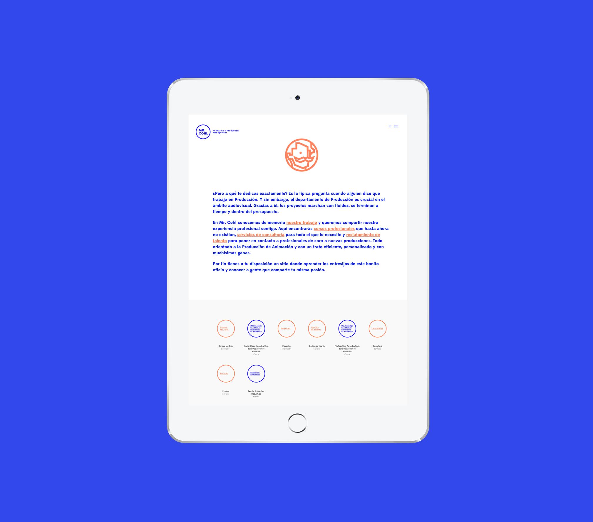 Mr. Cohl, Proyecto de Branding & Web Design por The Woork Co