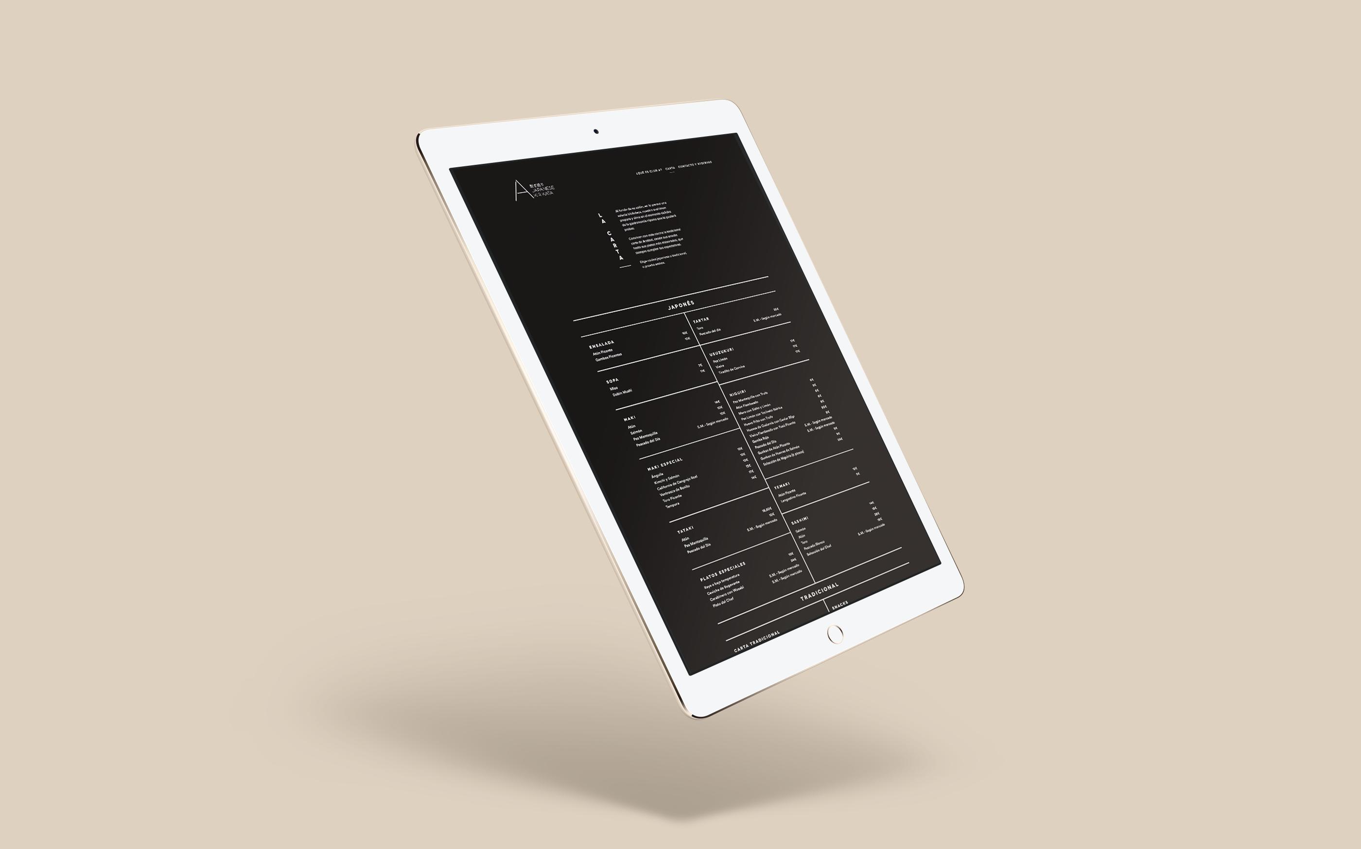 A de Arzábal Japanese Kirikata Web Design by The Woork Co