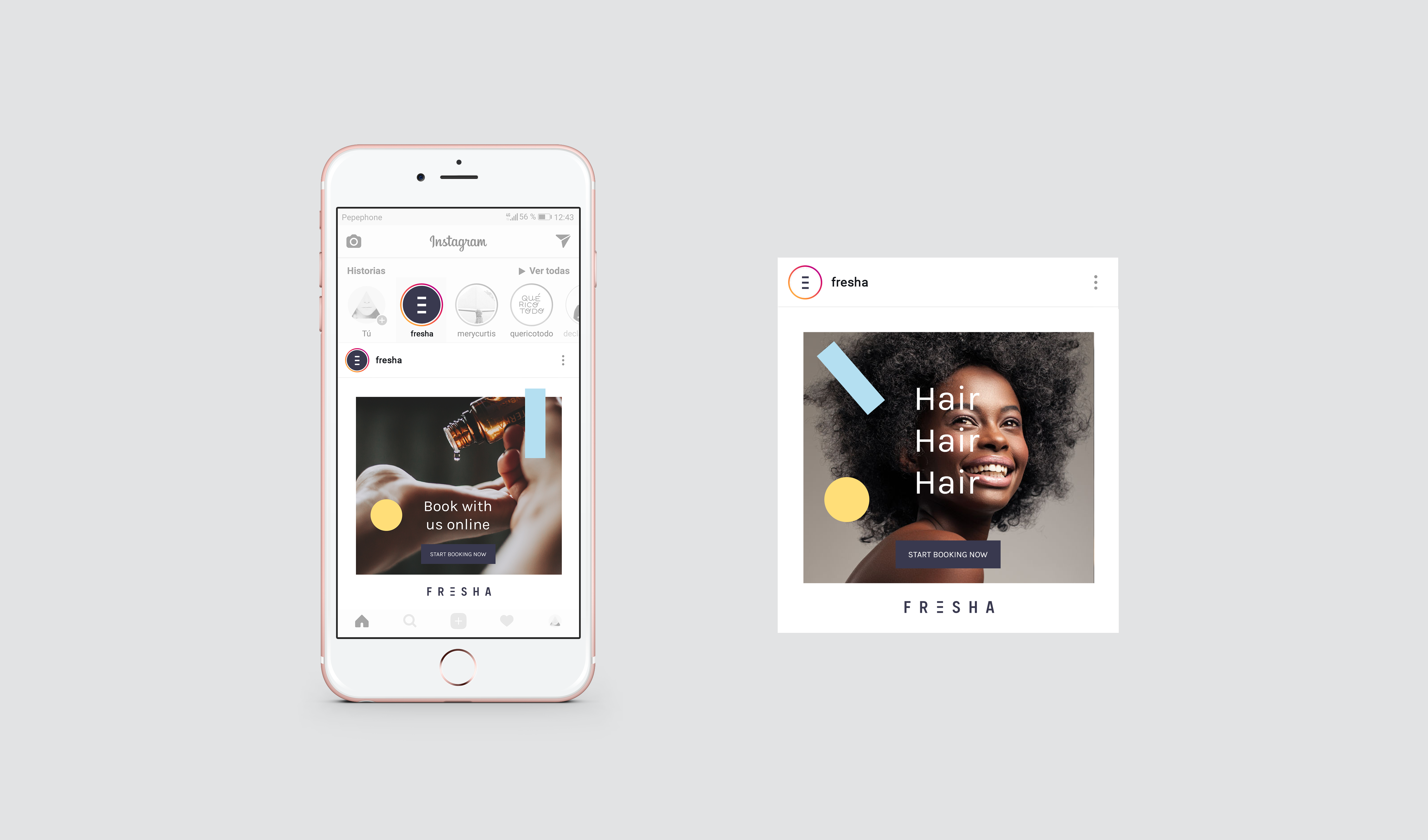 Fresha App Branding by The Woork Co